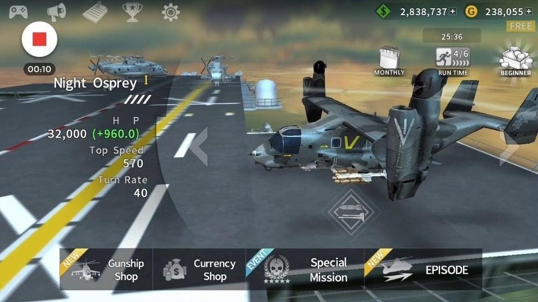 Features Of Gunship Battle Mod APK