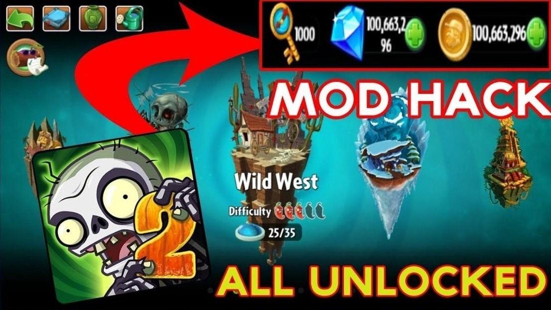 Features Of Plants Vs Zombies 2 Mod APK