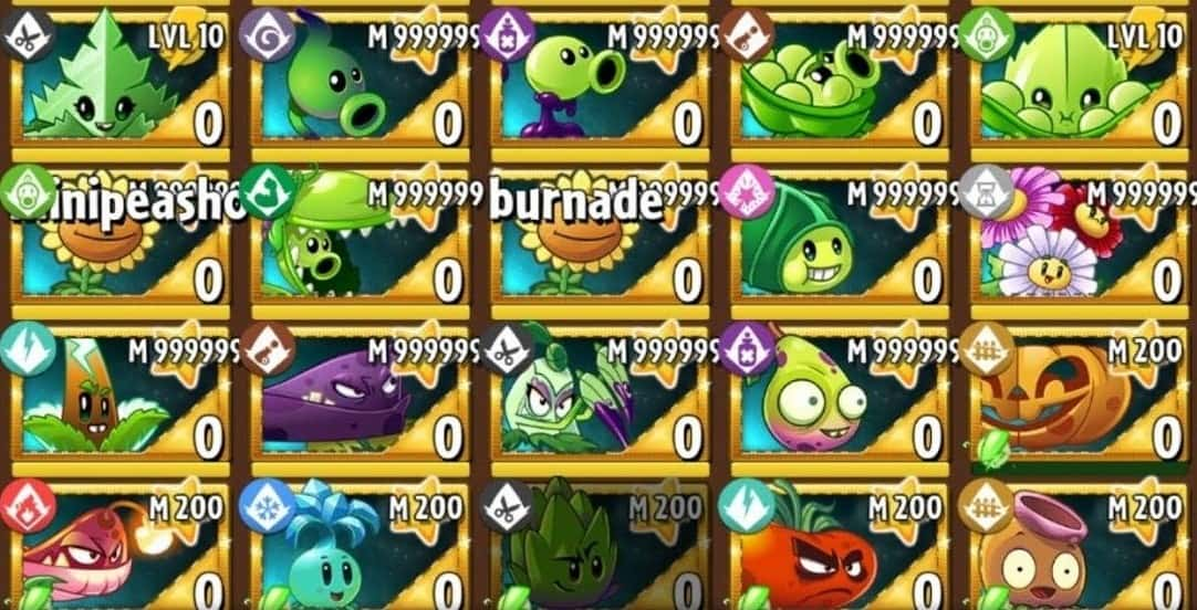 Download Plants VS Zombies 2 MOD APK All Plants Unlocked the Latest Version 2021